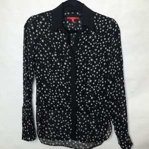 RED Saks fifth avenue star print blouse
